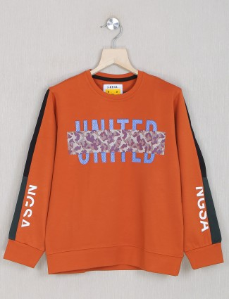 Ireal orange tint t-shirt in full length sleeve style