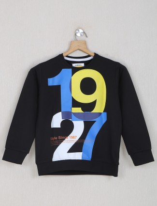 Ireal presented black cotton casual t-shirt for boys
