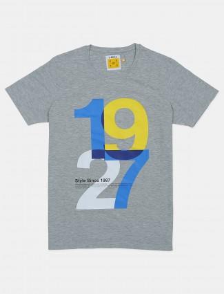 Ireal printed grey shade cotton t-shirt