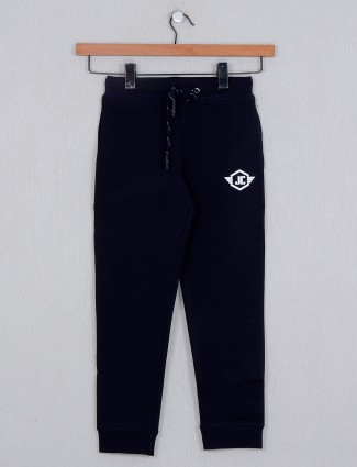 Just Cloths solid navy trackpant in cotton