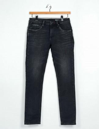 Killer black slim fit washed jeans