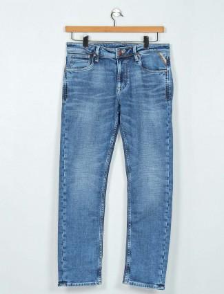 Killer blue slim fit washed jeans