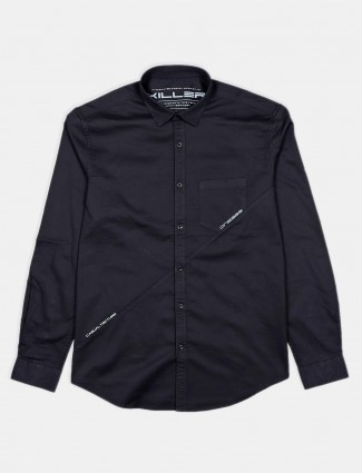 Killer cotton solid black casual shirt