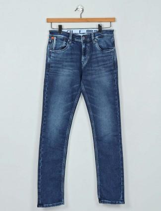 Killer dark blue washed effect jeans