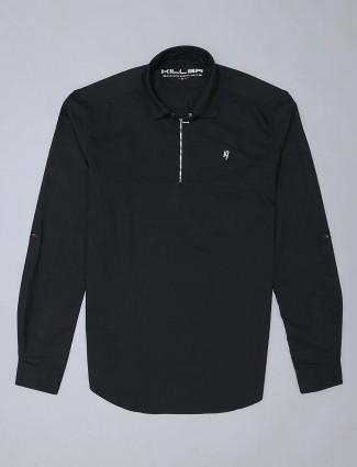 Killer presented solid black shirt for mens