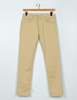 Killer solid beige slim fit jeans