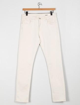 Killer solid cream slim fit mens jeans