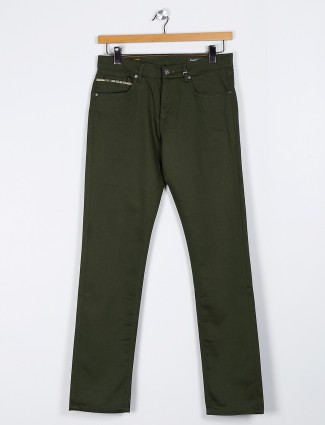 Killer solid dark olive slim fit jeans