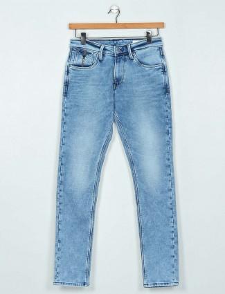 Killer washed light blue slim fit jeans