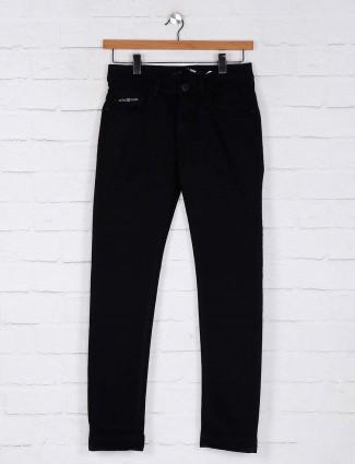 Kozzak black solid effect jeans