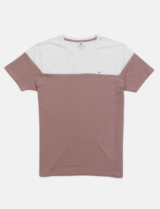 Kuch Kuch dusty pink solid t-shirt