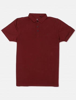 Kuch Kuch presented maroon solid t-shirt