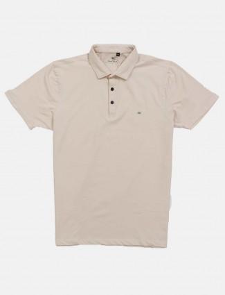 Kuch Kuch solid beige cotton t-shirt