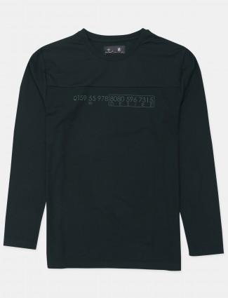 Kuchkuch green shade printed t-shirt for mens