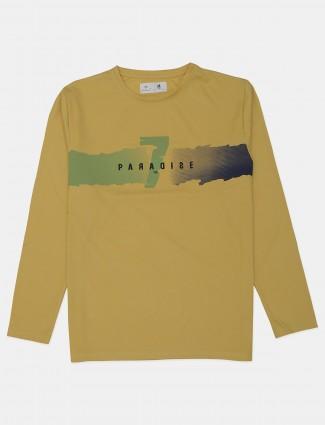 Kuchkuch ochre yellow t-shirt for men