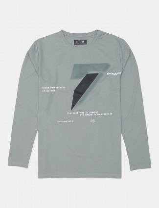 Kuchkuch olive shade t-shirt for men in cotton