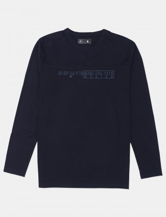 Kuchkuch presented navy tint t-shirt in cotton for men