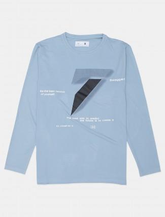 Kuchkuch presented stone blue printed t-shirt