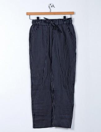 latest black cotton casual pant