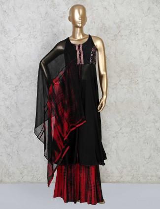 Latest black georgette salwar suit for festive