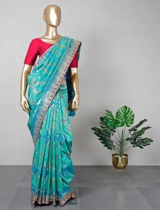 Latest green silk saree for wedding