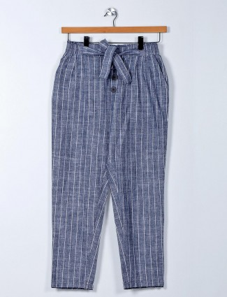 Latest grey cotton palazzo pant