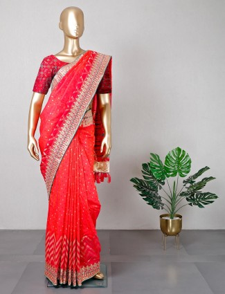 Latest magenta patola silk saree for wedding functions
