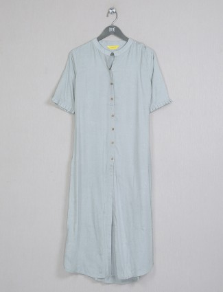 Latest pista green cotton casual wear kurti