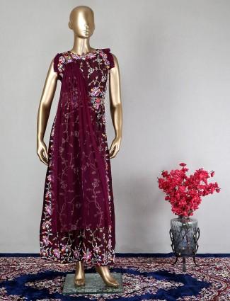Latest purple designer salwar kameez for wedding