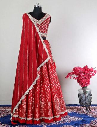 Latest wedding wear maroon lehenga for women