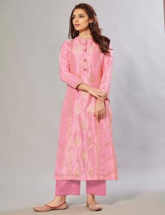 Lemonade pink hue festive wear palazzo set
