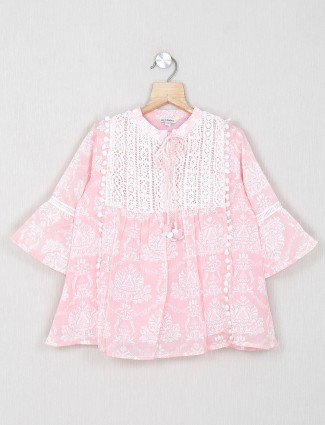 Leo N Babes casual cotton top in pink