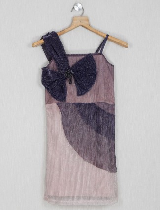 Leo N Babes cotton solid top in purple
