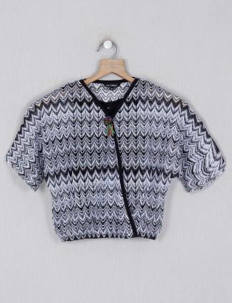 Leo N Babes grey printed cotton top