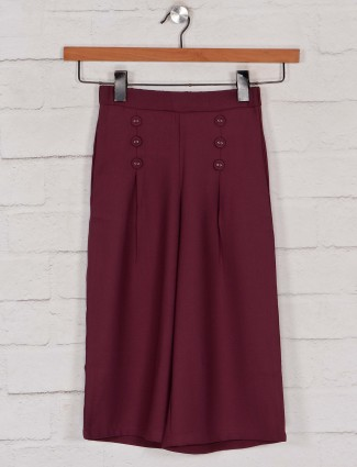 Leo N Babes maroon palazzo in cotton