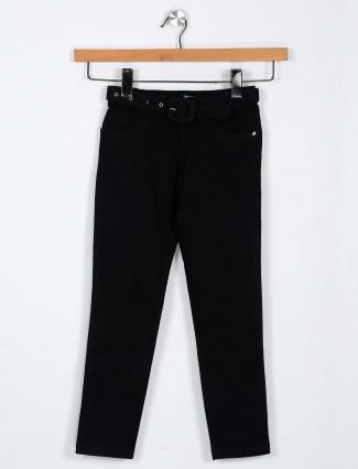 Leo N Babes solid black denim jeans