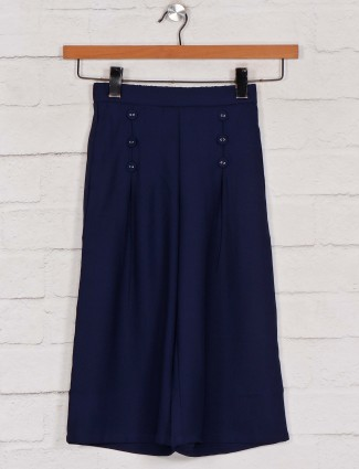 Leo N Babes solid navy cotton palazzo