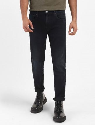 Levis black denim washed 511 slim fit jeans
