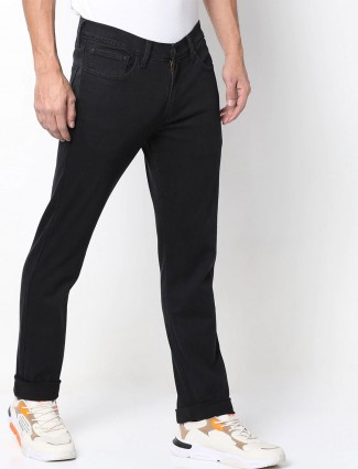 Levis black solid 511 slim fit jeans