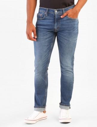 Levis blue washed slim fit jeans