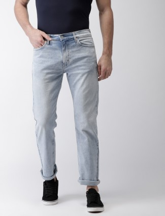 Levis light blue solid casual jeans