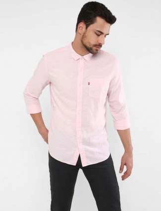 Levis linen fabric pink colored casual shirt