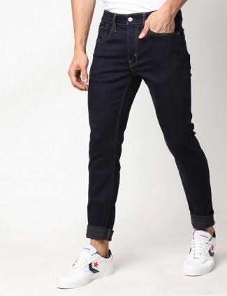 Levis mens solid navy skinny taper jeans