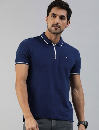 Levis navy solid polo neck t-shirt