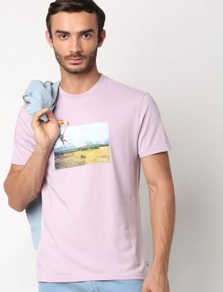 Levis printed pink slim fit t-shirt