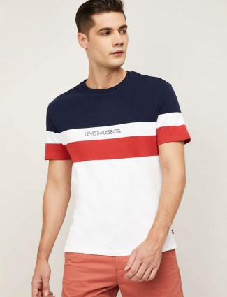 Levis stripe white t-shirt for mens