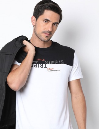 Levis white cotton t-shirt in printed