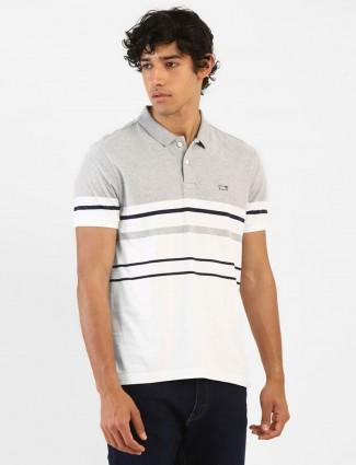 Levis white stripe polo neck t-shirt