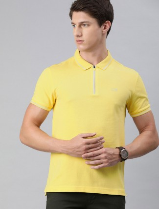 Levis yellow mens solid t-shirt