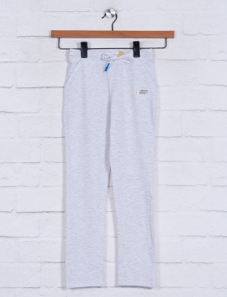 Light grey solid casual wear jeggings